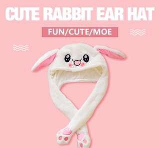 Moving ear rabbit bunny hat🐰