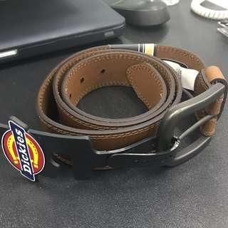 Authentic Dickies Rugged Leather Belt - Brown #PayDay30
