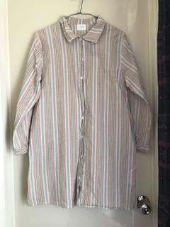🚚 森林系長版襯衫洋裝