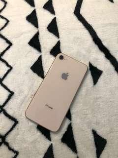 Iphone 8 full set gold 64GB 99%new✅ 100%work✅good battery✅