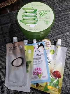 Mask and Aloe Vera Gel