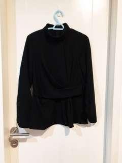 Zara pleated blouse