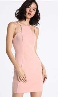 Love Bonito Dynielle Strappy Bodycon Dress Blush