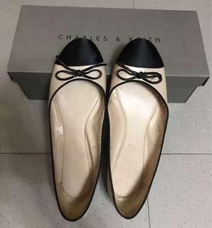 Preloved Charles & Keith Ballerina Flats