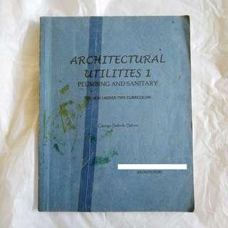 ARCHITECTURAL UTILITIES PLUMBING AND SANITARY BOOKBIND