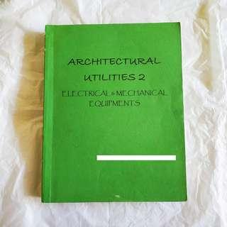 ARCHITECTURAL UTILITIES ELECTRICAL & MECHANICAL BOOKBIND