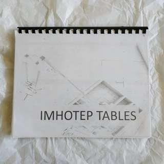 IMHOTEP TABLES Reviewer