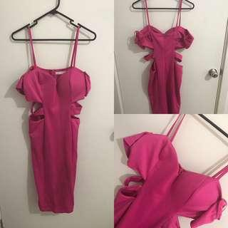 Super cute hot pink dress- only used once