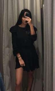 Kookai BLACK RUFFLE DRESS