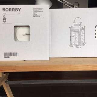 Unboxed 2 X BORRBY IKEA Lanterns 44cm