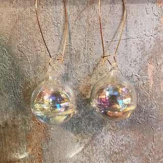 水晶球耳環