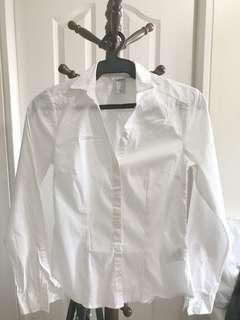 H&M White Long-sleeves (Preloved)