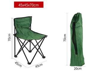 Fishing chair foldable with back support mini outdoor seat