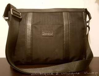 Jeep Sling bag Size 31×25 Nylon&leather Original Slot note book/tab