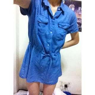 🚚 #十一月女裝半價 淺丹寧色洋裝 可議價 可換物
