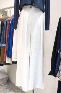 寬鬆寬褲 白