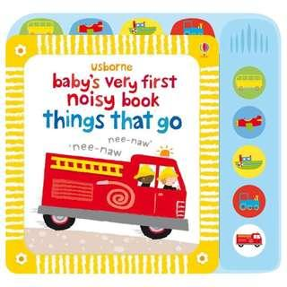 🚚 [BN] Usborne- Baby's very first noisy book: Things that go