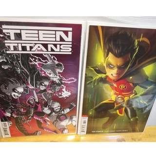 Teen Titans #23 Main Foil Cover A + Garner Variant NM