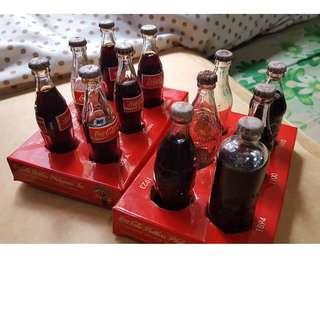 Coca Cola Vintage Mini Evolution Collectible Retro Bottle Design Set