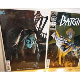 Batgirl #28 Foil and Joshua Middleton Variant Covers  NM