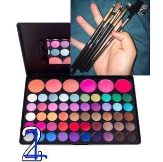Coastal scents 56eyeshadow blush palette with five brushes