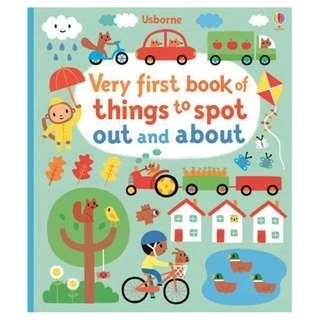 🚚 [BN] Usborne- Very first book of things to spot out and about