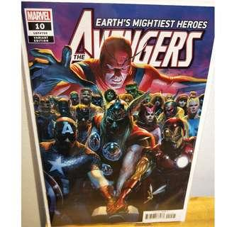 AVENGERS #10 Alex Ross 1:50 Variant Marvel Comic Jason Aaron Ed McGuinness