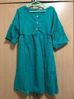 BNIB paperdoll live babydoll dress in green