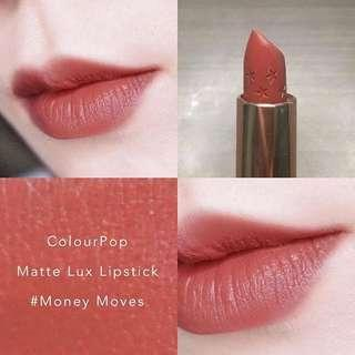 Colourpop matte lux lipstick money moves 粉橘霧面唇膏 另外 27