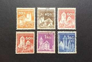 Czechoslovakia vintage stamps 1960 Towns 6v