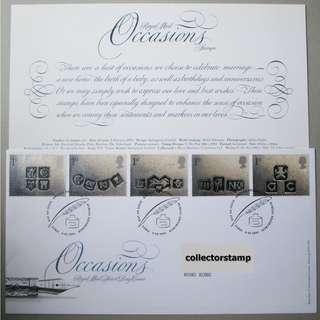 GB UK 英國 - 2001 Occasions Stamp Set FDC MNH