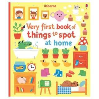 🚚 [BN] Usborne- Very first book of things to spot at home