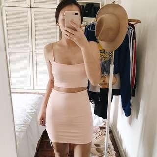 Pink Bodycon Set