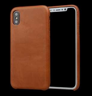 Iphone XS Max Genuine Leather Case