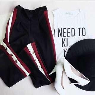 Red Stripe Pants