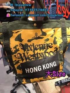 (現貨) 香港限定版 2018秋冬 Vivienne Westwood 非洲 帆布 手提包 手挽袋 單肩袋(保証正貨及全新) 大Size