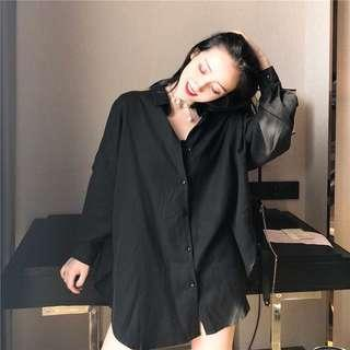 Boyfriend Shirt BLACK