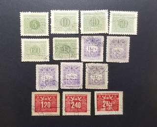 Czechoslovakia vintage stamps Postage due 14v