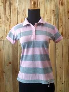 Pink Grey Strip Shirt