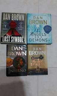 4 Dan Brown books as in photo