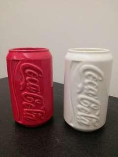 景德鎮制可口可乐陶瓷杯2隻