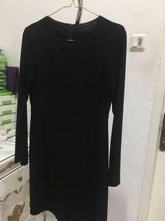 Dress black Zara bodyfit