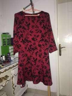 Dress red nyla