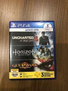PS4 Horizon Zero Dawn and Uncharted 4