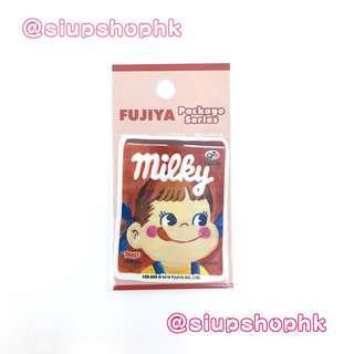 ⚠️最後❶張⚠️ 日本直送 2018新推出 ⚠️日本限定⚠️ 不二家 牛奶妹 可愛 防水貼紙 FUJIYA Milky Package Series Sticker ⭕️ A款 ⭕️