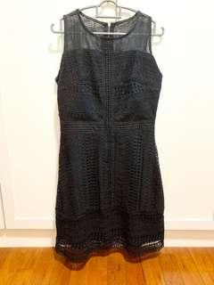 Black Lace Office Dress