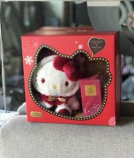 🚚 Hello Kitty x Godiva 2018 聖誕節 玩偶+ 8顆 松露巧克力 禮盒 限量
