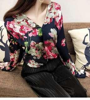 V-Neck Floral Top