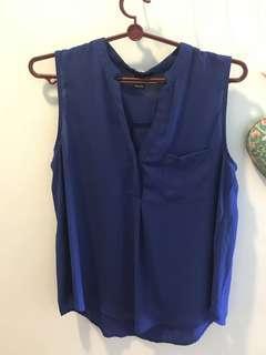 Forever 21 Navy Blue Top (sleeveless)