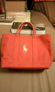 🚚 R L Polo 經典帆布包 磚紅特價1600
